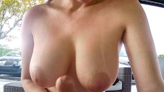 Its a beautiful day in Miami to get your dick suck outdoors. Especially if the girl is sexy and has big natural tits. Mellanie Hicks can suck dick real good. She had me going, rubbing my dick all over those big juicy tits. She made me cum real quick, but
