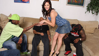 Look for Bobbi Starr in the new Blockbuster Hollywood film Drive.  Since we had such a tremendous response to a hot blue-eyed brunette last week,we thought wed do another one,back to back. This scene features the return of the sultry Bobbi Starr. This tim
