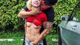 Kenzie Reeves has always had a fantasy, and she was finally able to fulfill this fantasy. All thanks to her boyfriend, Bruno. First, he stalked her and jerked off to her without her knowing. Second, he snuck up behind her in a parking lot and had his way