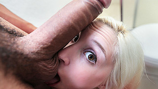 Cute blonde sexy girl with teeth braces Piper Perri swallowed every last drop of a man mayo after sucking hard a jumbo sized hard dick.