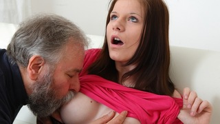 Maria and her boyfriend aren't as close as they thought. This old guy manages to quite literally
