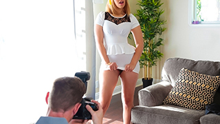 Kendall Kross is about to graduate high school! Her mom wants to make sure they get great photos and hired a pro photog to capture the precious moments. Kendall is horny AF and more interested in flashing the photographer and get him hard. They get to fuc