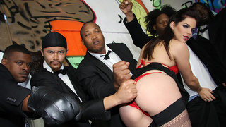 Look for Bobbi Starr in the new Blockbuster Hollywood film Drive.  Her thong is riding up her ass. Her pussy? Smells like fresh biscuits and gravy. That mouth? It was simply off the hook!. The black man has once again made a valiant attempt to even the sc