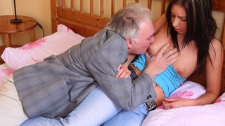 There is nothing like sharing your woman with an older guy. Call It help the aged or something if you like, but either way it's a nice gesture to allow this old guy to unload his spunk all over your girls tits