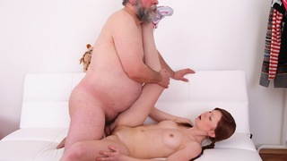 Hardcore sex is always best when you see an older guy doing a young babe like Miriam. She didn't know sex could be this good until she experienced him in her pussy.