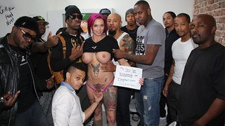 Anna Bell Peaks has some sexy gang bang fun