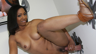 Its often said that you gotta try everything at least once. However,its doubtful that it meant for black women to taste their very first white cock courtesy of the glory hole. Anita Peida comes to us via Las Vegas and wants to break her taste buds white c